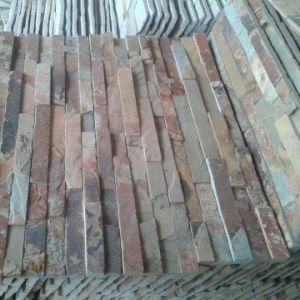 China Natural Stone Rusty Yellow Slate Wall Panel pictures & photos