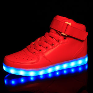 Light up High Top Sports Sneakers with Colorful Light pictures & photos