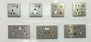 Factory Good Quality British Type 13A Wall Switch Socket pictures & photos