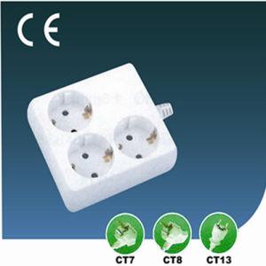 Three Ways European Extension Socket