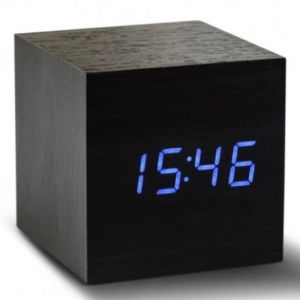 Temperature Tester Wood Cube Digital Bedroom Desk Morning Alarm Color LED Voice Control Clock pictures & photos