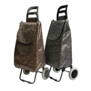 Foldable Lightweight Funky Microfiber Material 2 Wheeled Shopping Trolley Bag pictures & photos