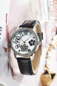 2017 Popular Quartz Women′s Watch with Genuine Leather Strap Fs666 pictures & photos