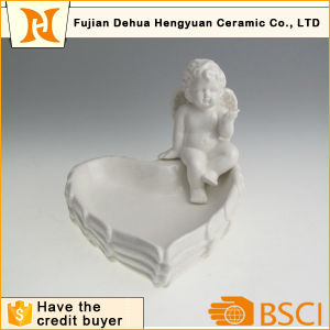 Factory Direct Sale Heart Shape Ceramic Candy Jar pictures & photos