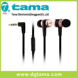 1.1m Wired Insert Earphone with Aluminum Shell Head & Microphone pictures & photos