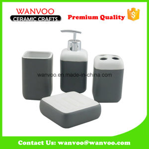 Ceramic Home Bathroom Set of Lotion Dispenser Tumbler Soap Dish pictures & photos