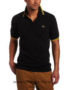 Mens Dry-Fit Polo Shirt with Custom Embroidery Logo pictures & photos