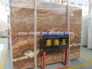 The Black Sea Onyx Marble Slab for Home Flooring Design pictures & photos