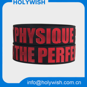Passive Waterproof RFID Silicone Wristband Debossed Logo Design pictures & photos