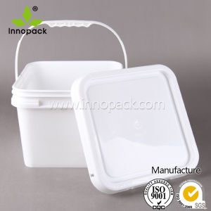 Wholesale Rectangular Plastic Bucket with Cover and Handle for Chemical Use pictures & photos