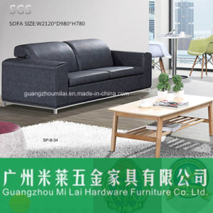 Best Selling Modern Leisure Leather Sofa with Metal Leg pictures & photos