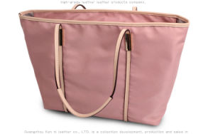Fashion Modern Lady Leather Simple Shopping Diaper Travel Handbag Bag pictures & photos