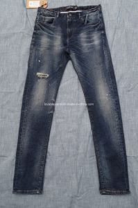 High Waisted Ripped Skinny Jeans (E89101-TF) pictures & photos