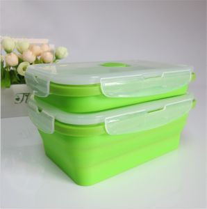 Food Grade Foldable Silicone Lunch Box pictures & photos