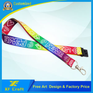 Competitive Price Custom Polyester Breakaway Fabric Lanyards for Promotional (XF-LY04) pictures & photos