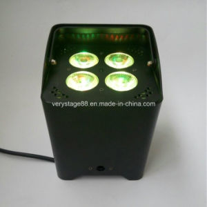 Party Disco Remote Control WiFi 4X15W RGBWA UV Battery Power Flat LED PAR Light pictures & photos