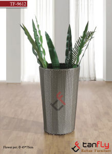 Home Decoration Garden PE Rattan Wicker Flower Pot