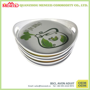 Round Shape Custom Design Full Print Melamine Trays pictures & photos