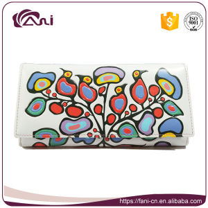 Birds Flower Printed PU Clutch Wallet Purse for Lady pictures & photos