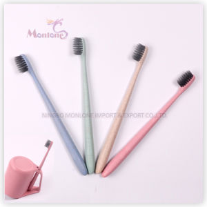New Design Eco-Friendly Degradable Wheat Straw Toothbrush 18cm pictures & photos