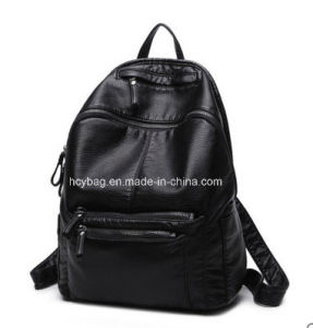 2017 Fashion Style PU Backpack, Wash Water Material Backpack Bag pictures & photos