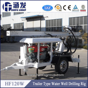 Trailer Type Portable Drilling Rig Hf120W pictures & photos