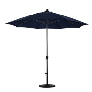 9′ Round Aluminum Pole Fiberglass Rib Umbrella with Crank