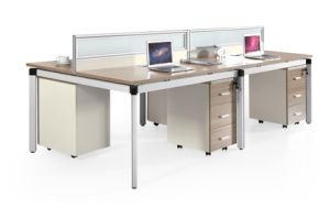 Simple Design High Quality Metal Frame 4 People Workstation with Screen pictures & photos