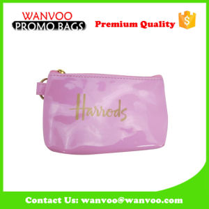 Mini Lady PU Genuine Leather Travel Make-up Cosmetic Bag with Zipper and Logo pictures & photos