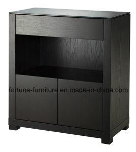 Wooden Veneer Laminated Black Wine Cabinet (I&D-N30511)