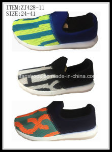 New Arrival Sport Shoes Injection Canvas Shoes for Children (ZJ428-11) pictures & photos