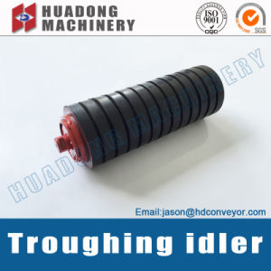 Rubber Covered Conveyor Idler Roller for Belt Conveyor pictures & photos