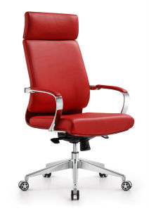 Red Color Aluminum Steel Arms Revolving Chair (NS-6C015) pictures & photos