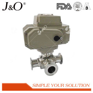Sanitary Stainless Steel Three-Way Electric Ball Valve pictures & photos