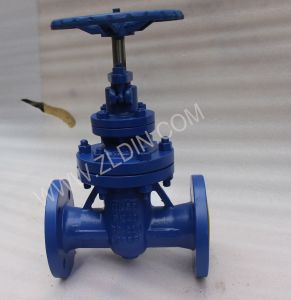 DIN Standard F4 Serial Cast Steel Flanged Ends Z45h Non-Rising Stem Gate Valve From Wenzhou Factory pictures & photos