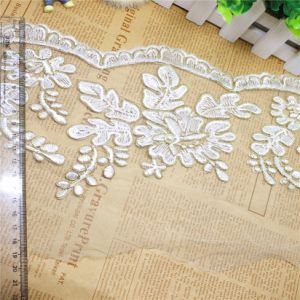 Wholesale 20cm Width Embroidery Nylon Glitter Stone Net Lace Polyester Embroidery Trimming Fancy Mesh Lace for Garments Accessory & Home Textiles & Curtains pictures & photos