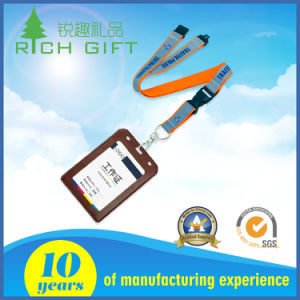 Custom Fine Heat Transfer Printing Lanyard for Employee′s Card pictures & photos