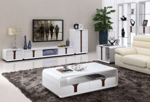 LED TV Stand with 2 Drawers in High Gloss (DS-190) pictures & photos