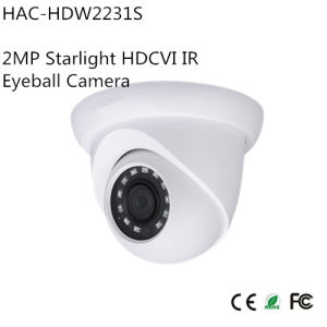 2MP Starlight Hdcvi IR Eyeball Camera (HAC-HDW2231S) pictures & photos