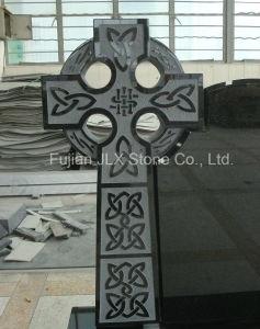 Black Granite Celtic Cross Design Tombstone pictures & photos