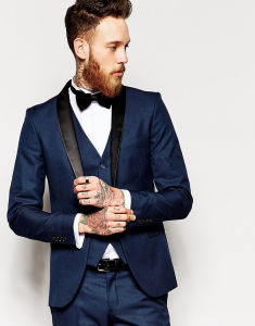 Men′s Navy Slim Fit Fashion Suit pictures & photos