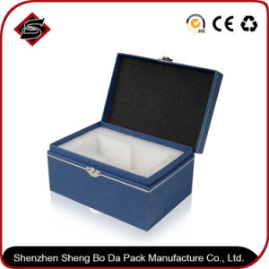 Customized Style Blue Paper Packaging Box for Jewelry pictures & photos