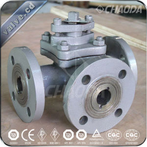 T Type Three Way Floating Ball Valve pictures & photos