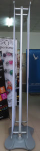 Double Side Roll up Display Stand for Outdoor with Wheels pictures & photos