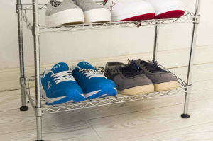 Adjustable Chrome DIY Modern Shoe Shelf Rack (CJ-C1111) pictures & photos