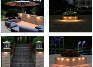 IP67 12VAC/DC 110lm/W LED Hardscape Steplight pictures & photos