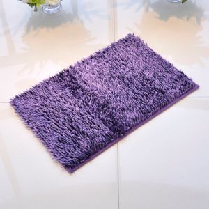 Shiny Chenille  High Pile Bathmat with Anti Slip Base pictures & photos