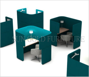 New Product Green Fabric Office Personal Privacy Workstation Cubicle (SZ-WS695) pictures & photos
