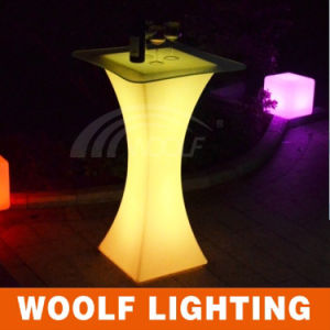 LED Furniture Portable LED Plastic Colorful Bar Table pictures & photos