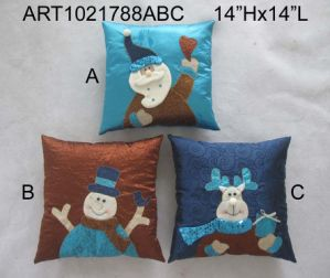 Santa, Snowman and Moose Christma Decoration Pillow-3asst pictures & photos